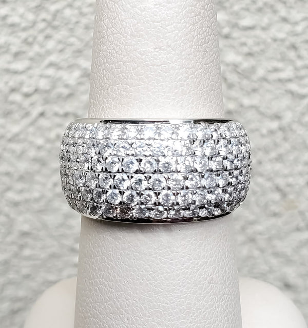 White Gold 2ct. Pave' Diamond Wide Band