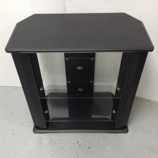 "32"" 3 Tier Black TV Stand"