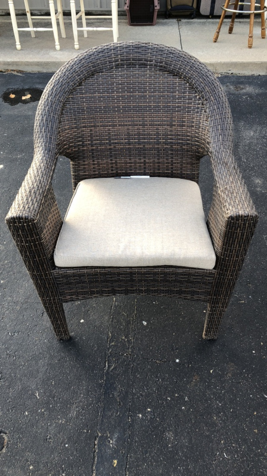 Wicker Armchair w/ Cushion