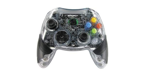 Pelican Spirit Microsoft Xbox Clear Wireless Controller
