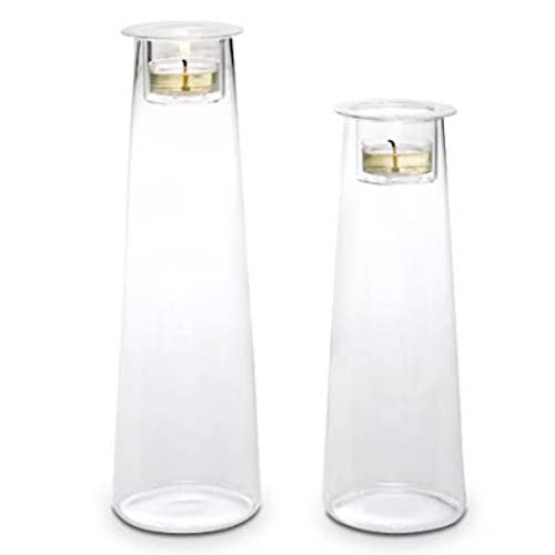 PartyLite Clearly Creative Tall Symmetry Pair Candle Holders P91852