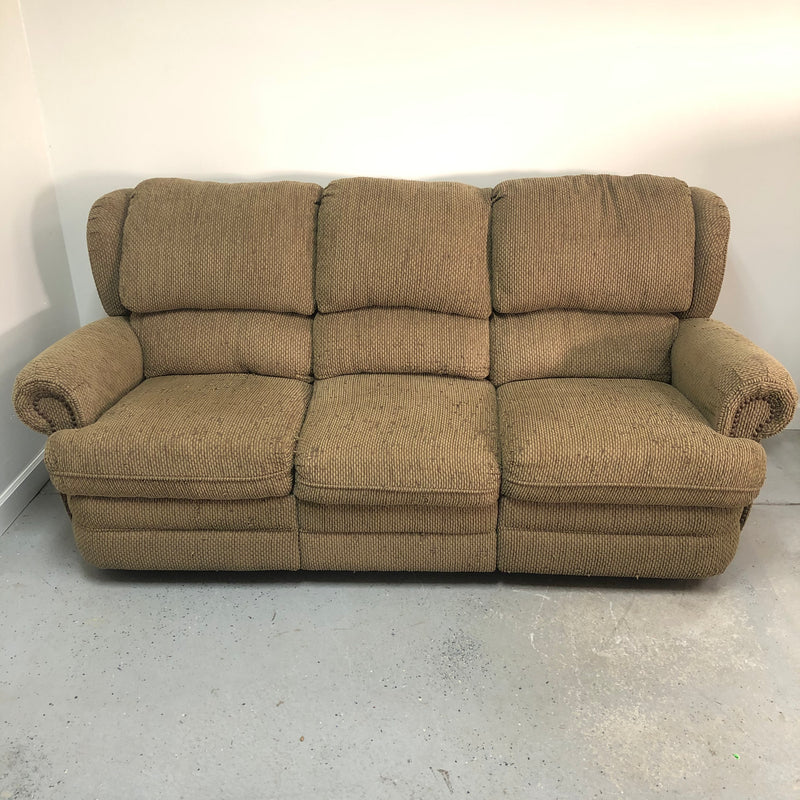 Lane Double Recliner Fabric Sage Snuggler Reclining 3 Seat Sofa Couch