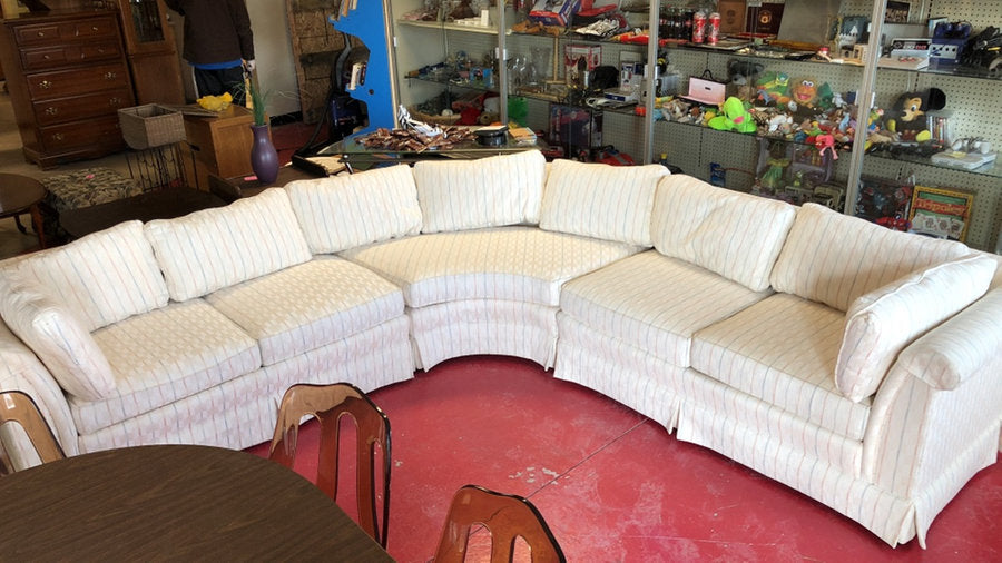 White Fabric Sectional Sofa Couch – M15SALES.COM