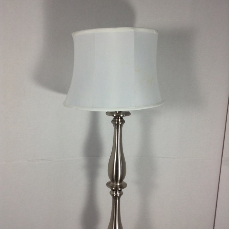 5' Silver Floor Lamp w/ Shade