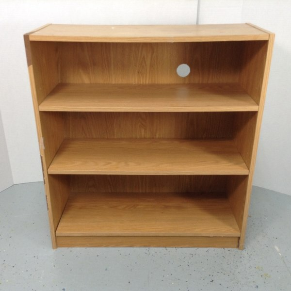 3 Shelf Bookcase Bookshelf Display Light Brown Shelf Unit