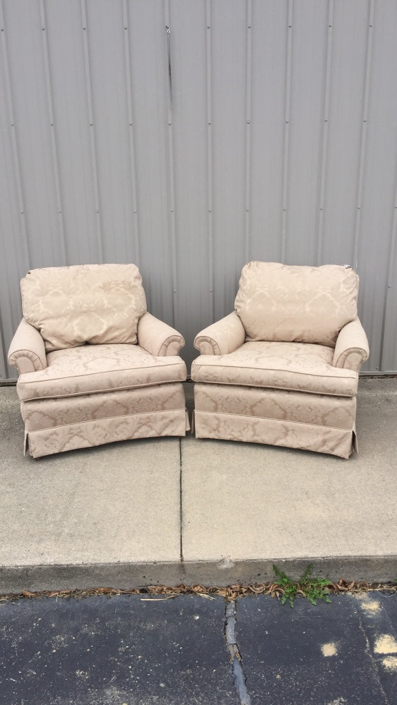 Beige Fabric Sofa Chairs