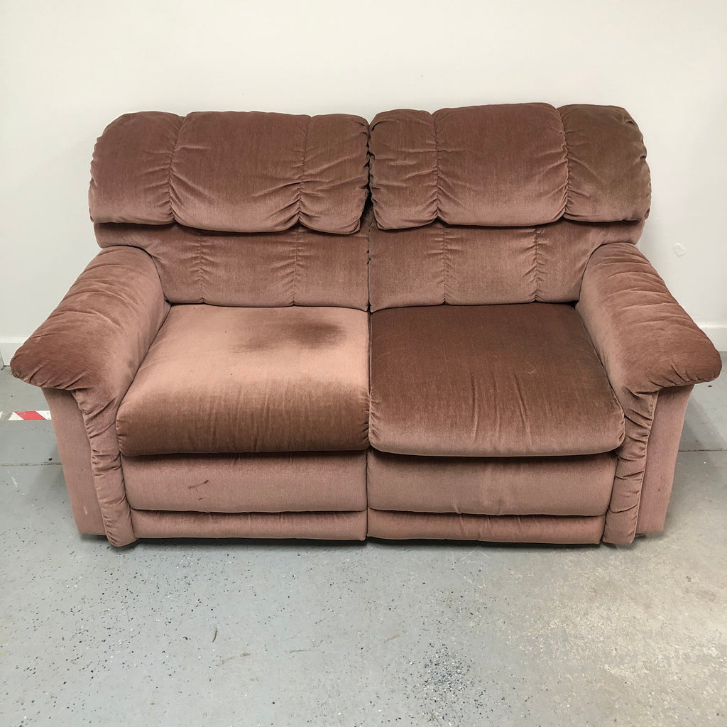La-Z-Boy Double Recliner Pink Loveseat Sofa Reclining Couch