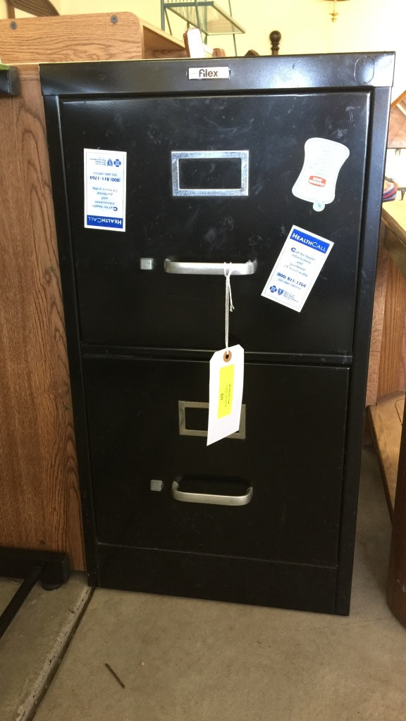 Black 2-Drawer Filing Cabinet