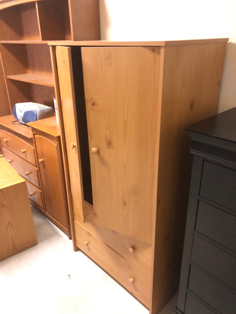 Armoire w/ Clothing Hanger & 2 Bottom Drawers
