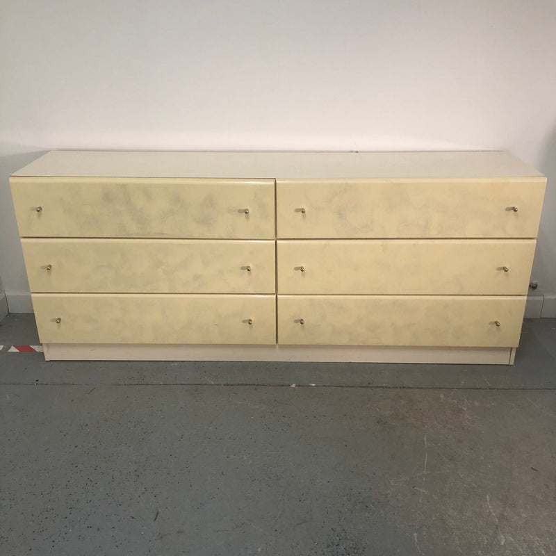 Millenium Replicated Wood Gold Pearl 6 Drawer Long Dresser