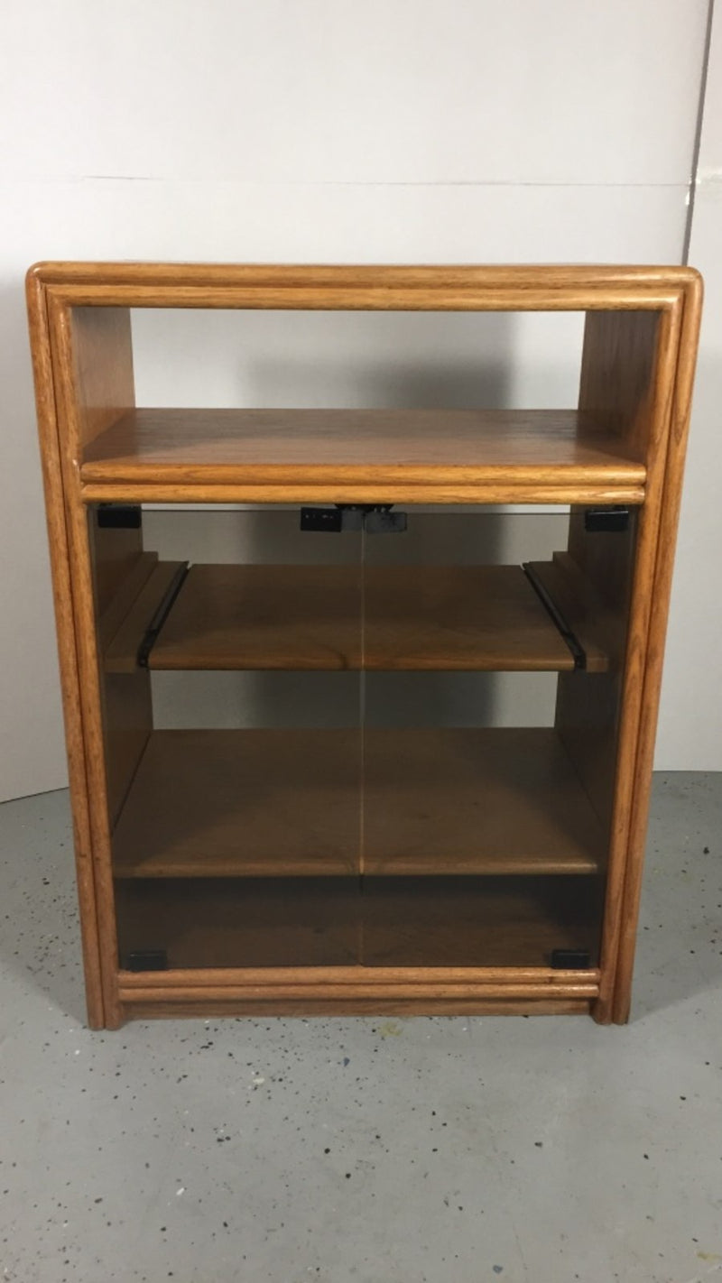 Solid Oak Wood CD / Record / Music Cabinet Stand