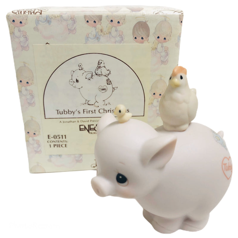 Precious Moments Tubbys First Christmas Pig Figurine E-0511
