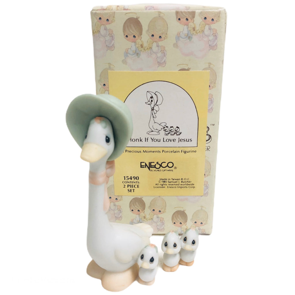 Precious Moments Honk If You Love Jesus 2 Pc Figurine Set 15490