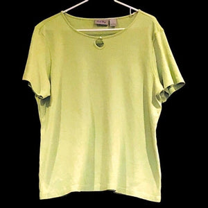 Coral Bay Womens Short Sleeve Green Soft Tshirt