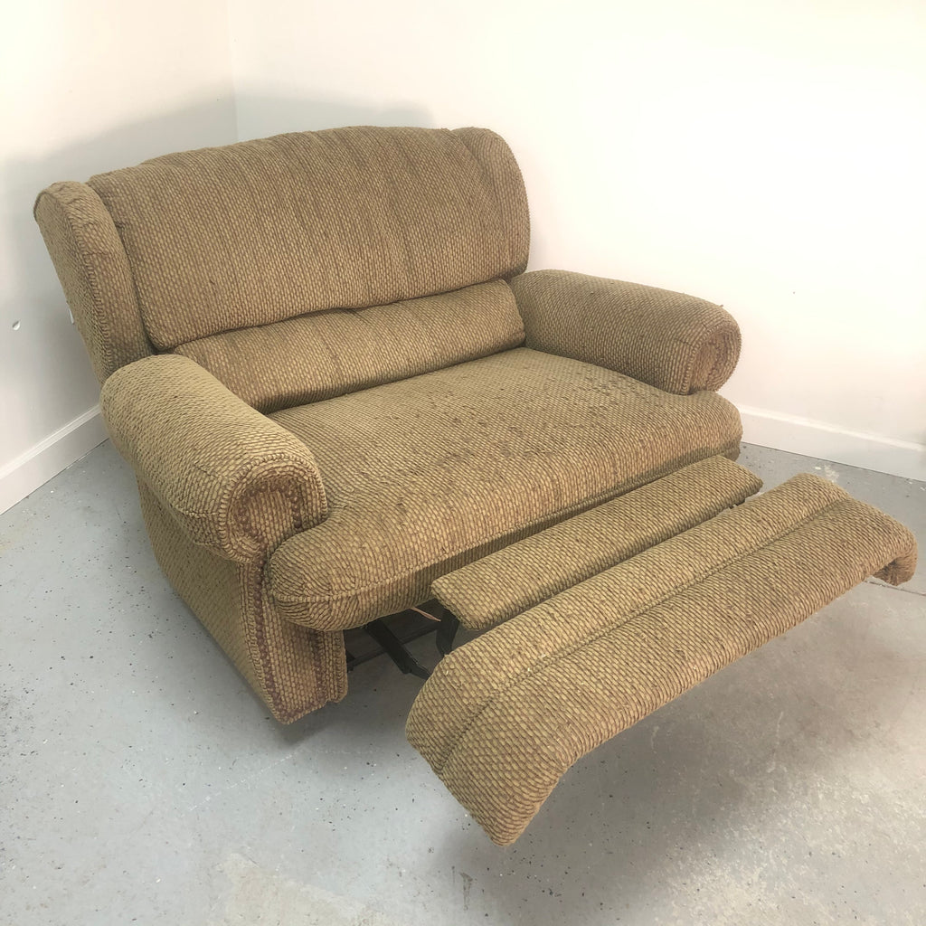Lane Fabric Sage Reclinng Oversized Snuggler Recliner Chair