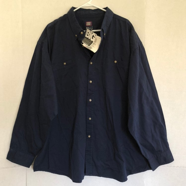 Faded Glory Mens Blue Long Sleeve Button Down Shirt