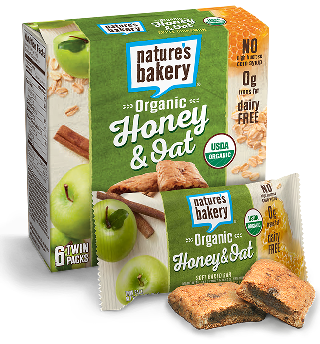 Natures Bakery Apple Cinnamon 12 Count Twin Pack Honey & Oat Bars 100% Natural