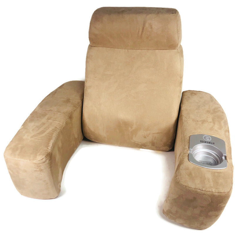 Homedics Folding Suede Massage Chair Cushion Back Rest