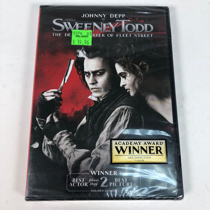 New Johnny Depp Is Sweeney Todd The Demon Barber Of Fleet Street DVD
