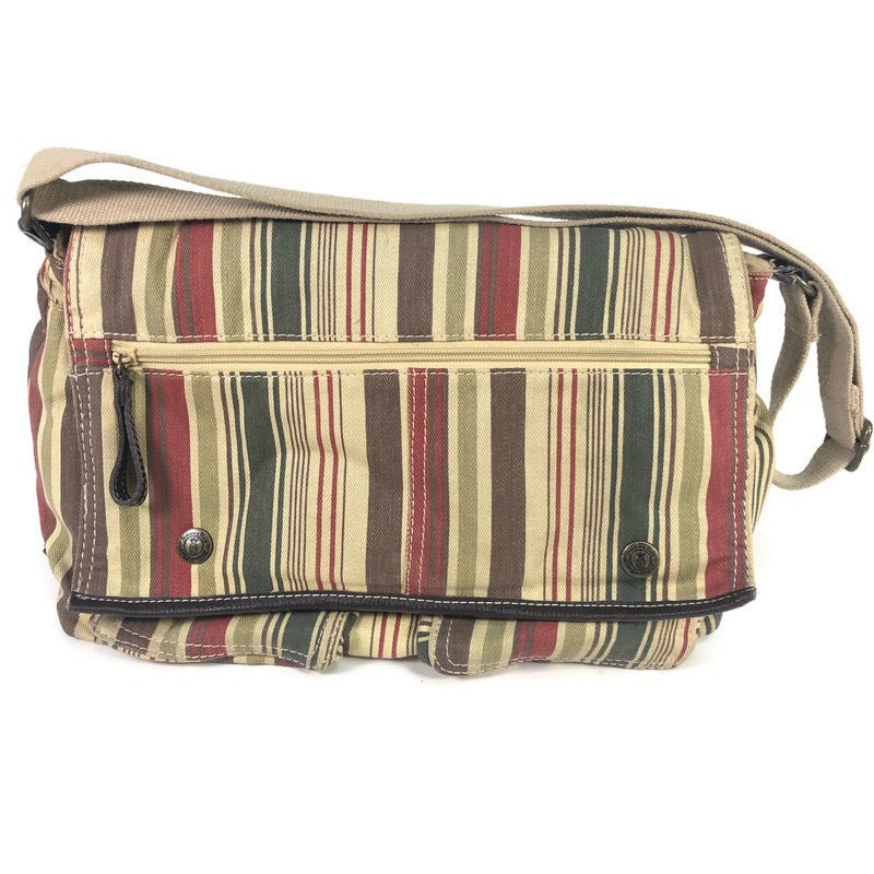 Jamaica Bay Striped Canvas Shoulder Bag Purse