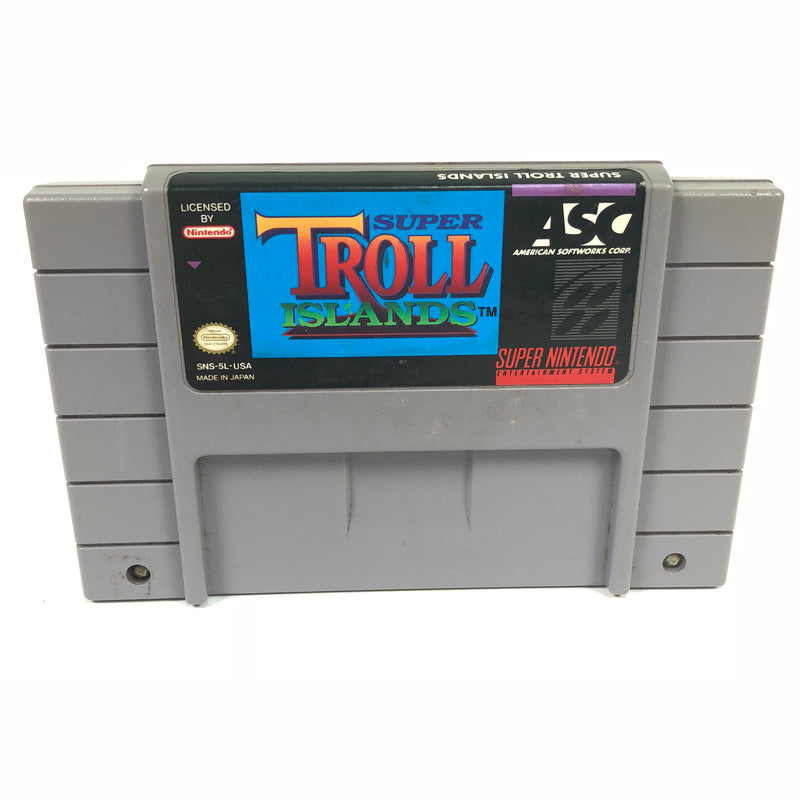 Super Troll Islands Super Nintendo Entertainment System SNES