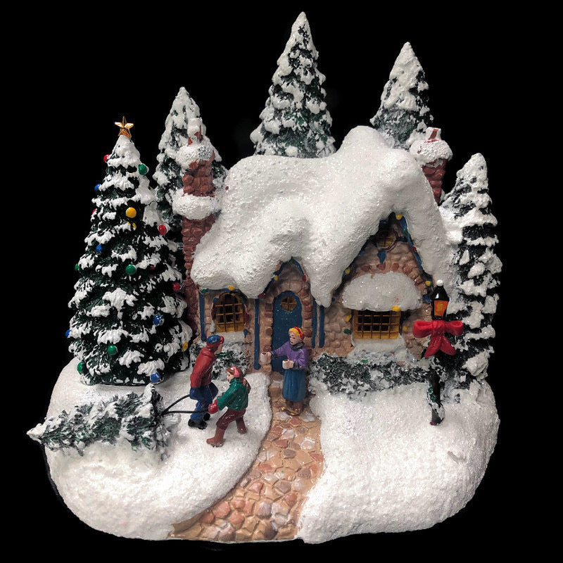 Thomas Kinkade Painter Of Light Country Christmas Homecomming Display Village House