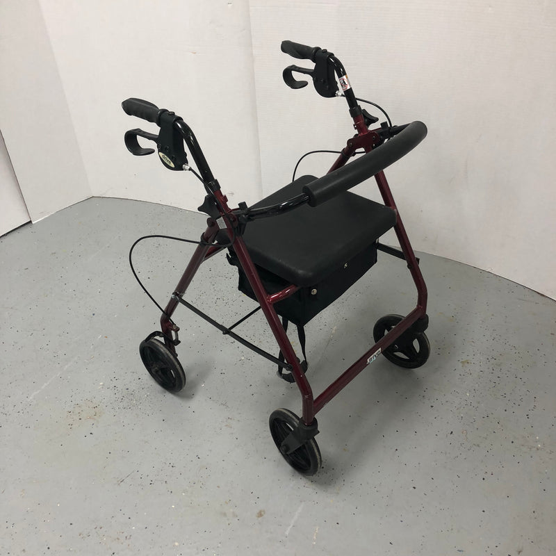 Drive Medical Aluminum Foldable Walker on Wheels