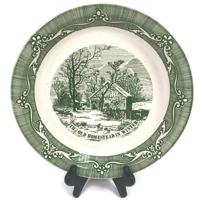 "The Old Homestead In Winter 9"" Pie Plate"