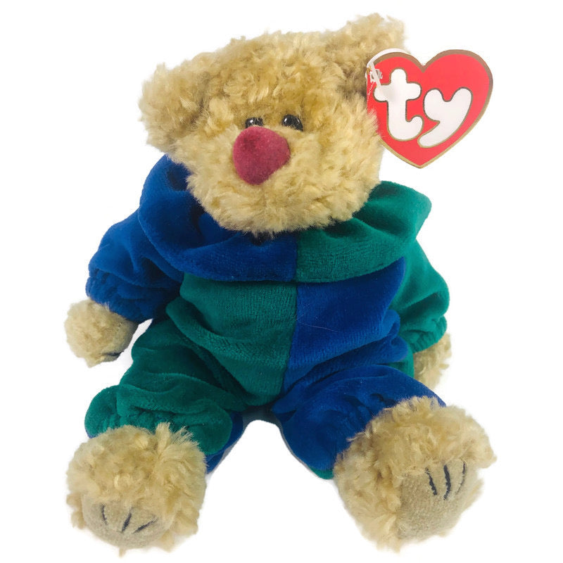 Piccadilly Green Blue Bear TY Beanie Baby
