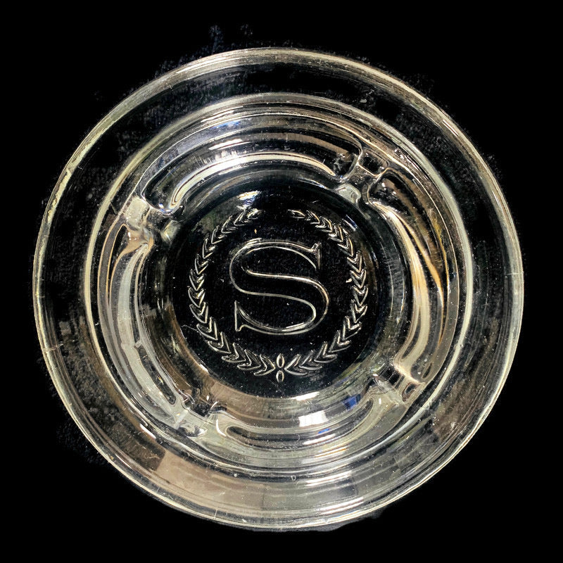 "Sheridan Hotel 5"" Round Clear Glass Ashtray"
