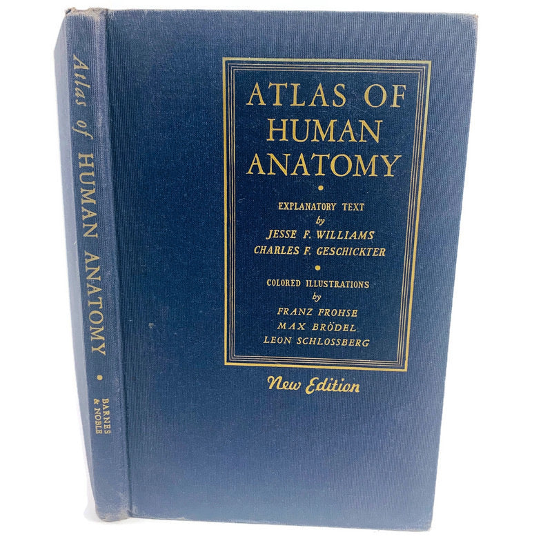 Atlas Of Human Anatomy New Edition 1942 Explanatory Text Color Illustrations Book