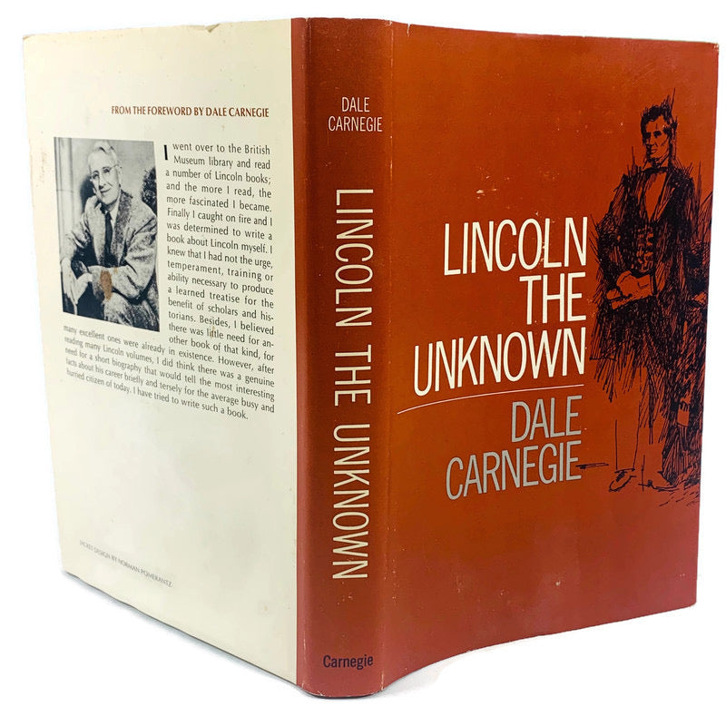 Lincoln The Unknown Dale Carnegie 1959 Hardcover Book