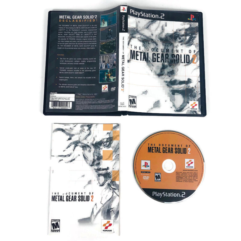 The Document Of Metal Gear Solid 2 Sony Playstation 2 PS2