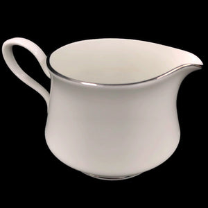 Oxford Lexington Bone China White Platinum Trim Creamer