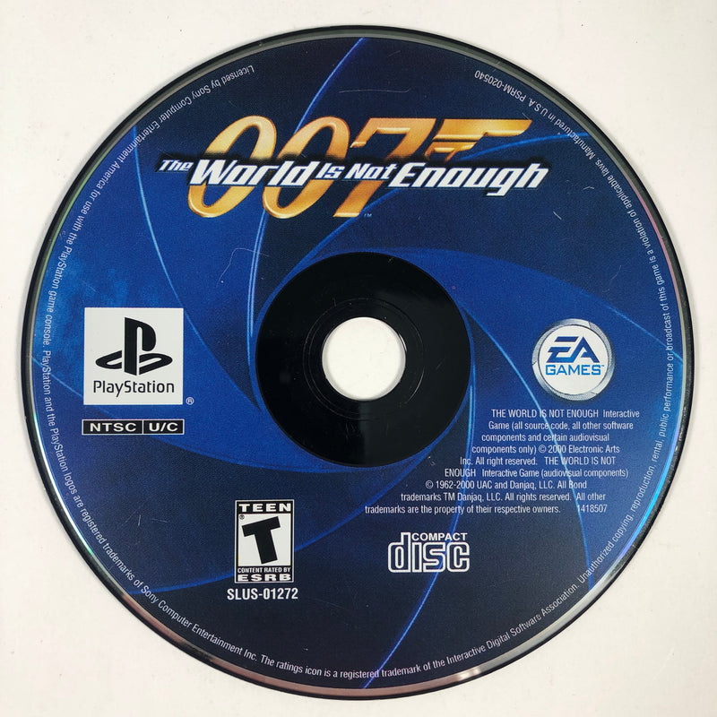 007 The World Is Not Enough Black Label Sony Playstation 1 PS1