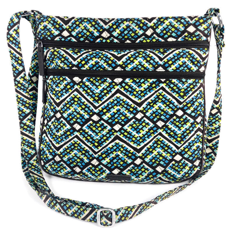 Vera Bradley Triple Zip Hipster Rainforest Crossbody Purse Bag 15711-G55