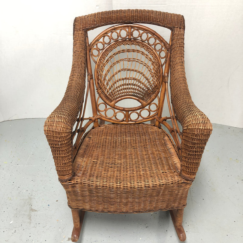 Rattan Wicker Brown Patio Loveseat 2 Seat Outdoor Chair