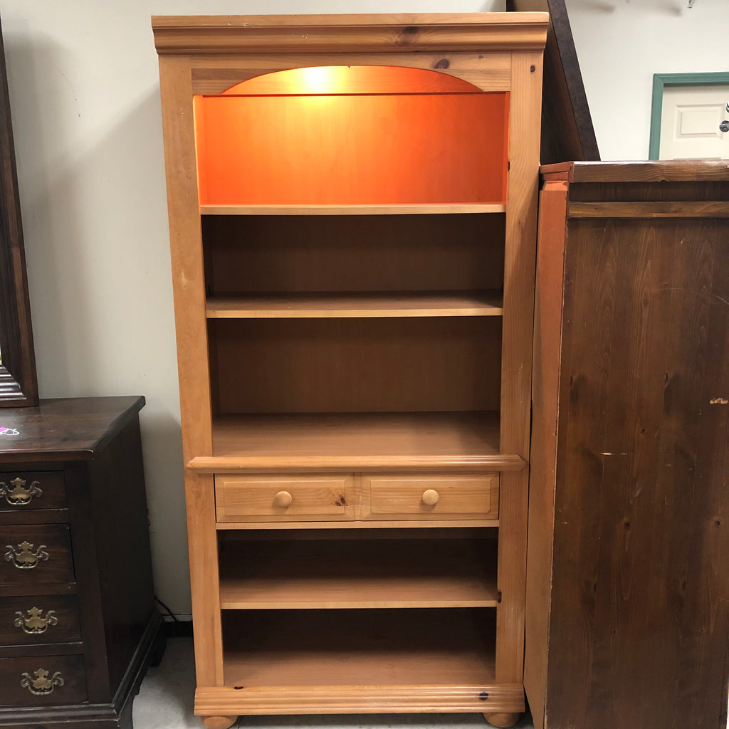 Broyhill Illuminated Solid Pine Cabinet