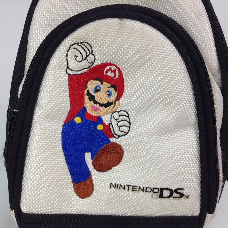 Nintendo DS White Mario Mini Carry Backpack Bag Pack