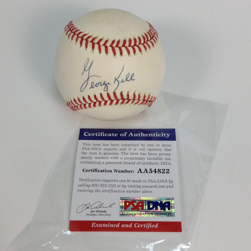 George Kell Autographed Signed Baseball COA Certificate of Authenticity PSA/DNA Official MLB