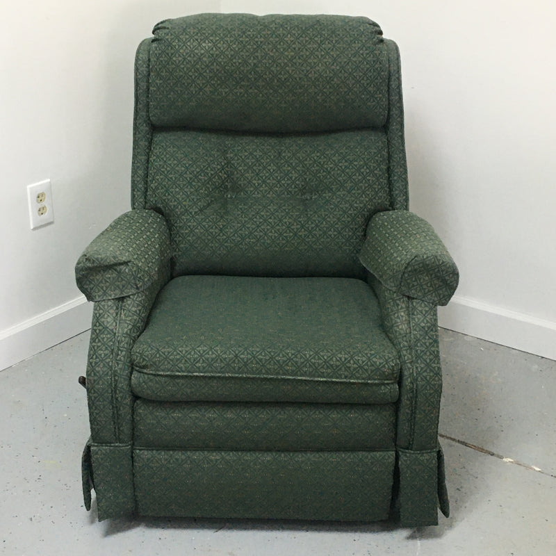 Lane Furniture Green Fabric Rocker Recliner Swivel Chair