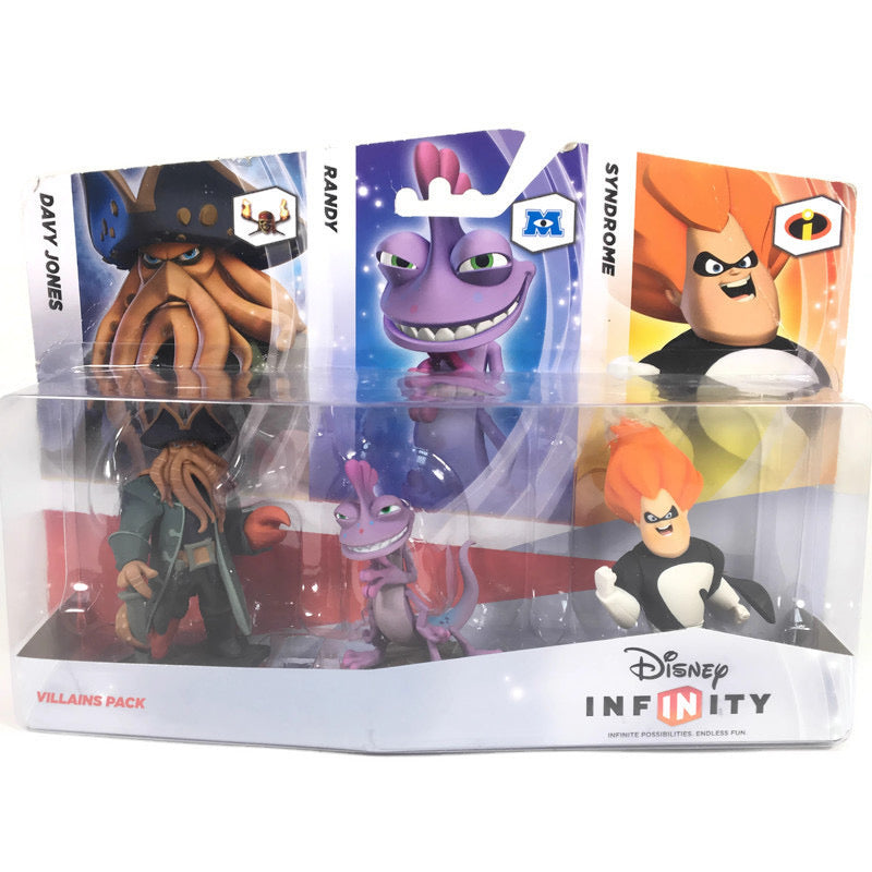 Disney Infinity Davy Jones Randy Syndrome Villains 3 Pack Figures