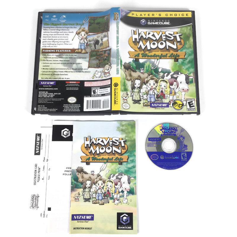 Harvest Moon A Wonderful Life Players Choice Nintendo Gamecube