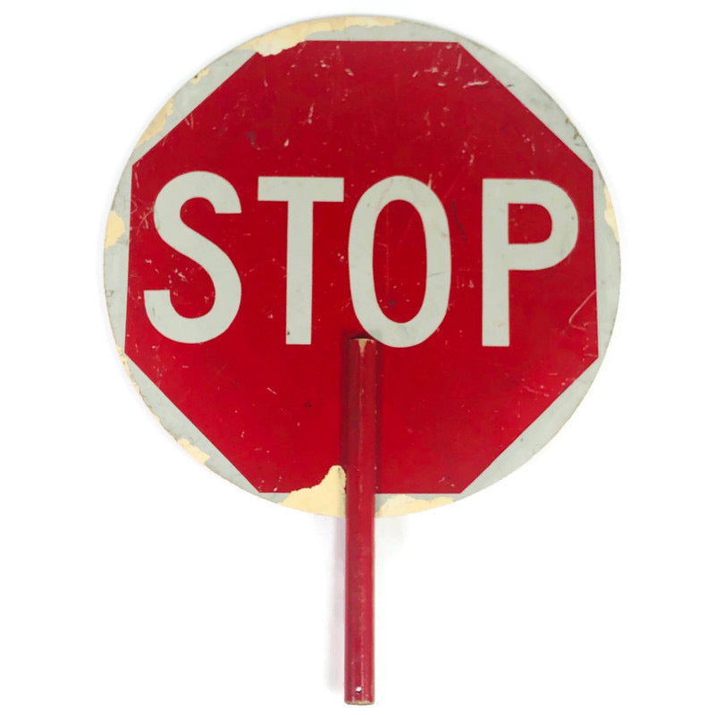 "18"" Handheld Crossing Guard Stop Sign"