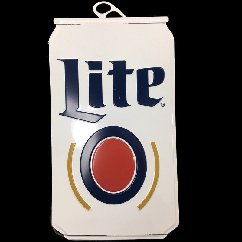 "Miller Lite Metal Can 24""x13"" Sign"