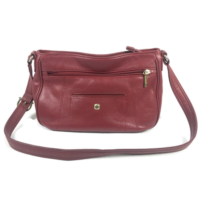 Stone & Co. Red Leather Shoulder Bag Purse