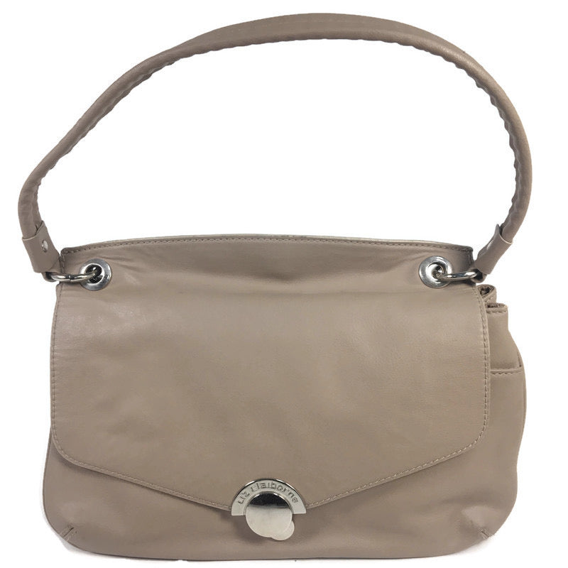 Liz Claiborne Beige Tan Leather Shoulder Crossbody Handbag Purse
