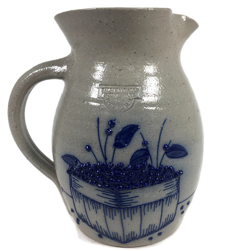 Salmon Falls Stoneware Blueberry Basket Pitcher
