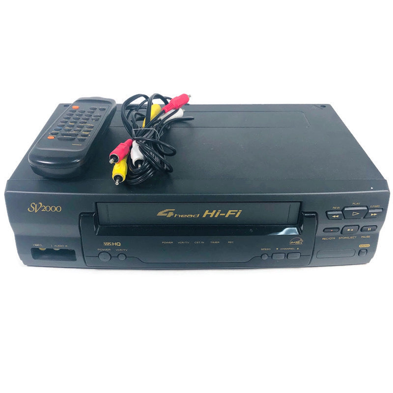 Phillips SV2000 4 Four Head HI-FI VCR VHS Recorder Player SVB106AT21