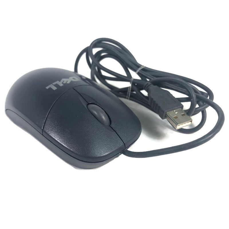 Dell Wired Black 3 Button Scroll Ball USB Mouse MO56UC